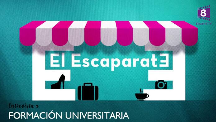 Formación Universitaria asiste al programa de 8Madrid TV «El Escaparate»