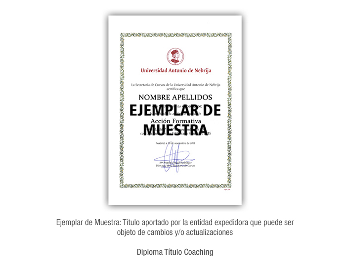 Diploma Título Coaching formacion universitaria