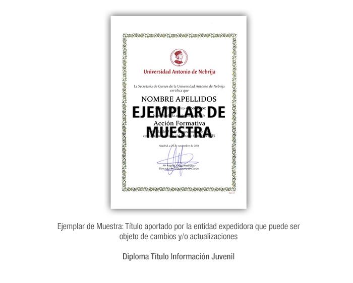 Diploma Título Información Juvenil formacion universitaria