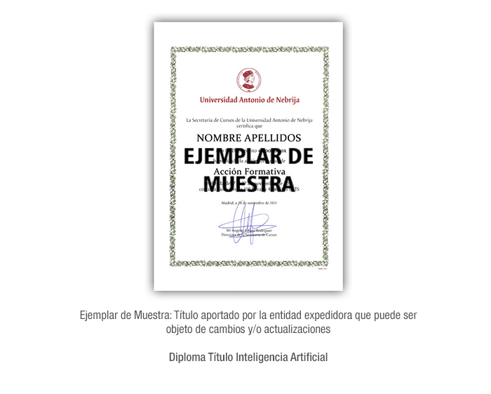 Diploma Título Inteligencia Artificial formacion universitaria