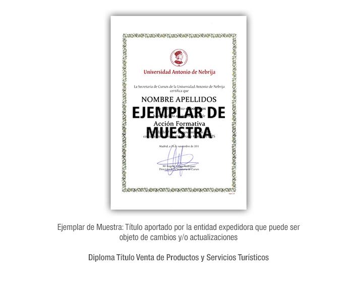 Diploma Título Venta de Productos y Servicios Turísticos formacion universitaria
