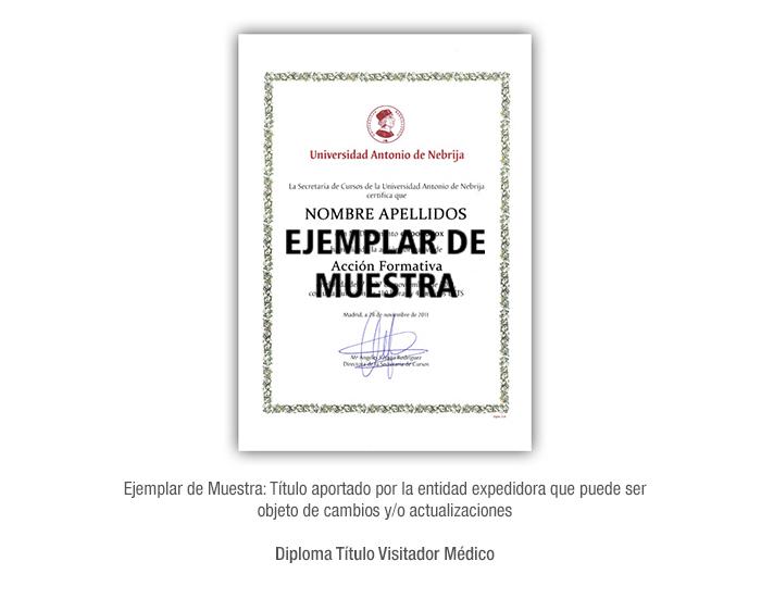 Diploma Título Visitador Médico formacion universitaria