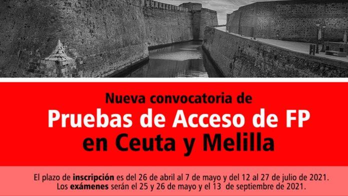 Acceso FP Ceuta y Melilla