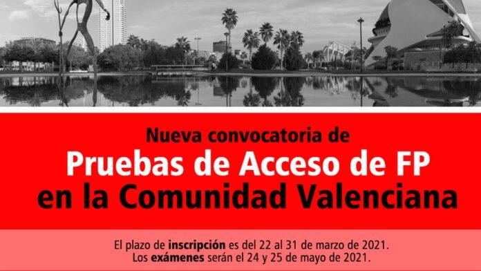 Acceso FP Comunidad Valenciana 2021