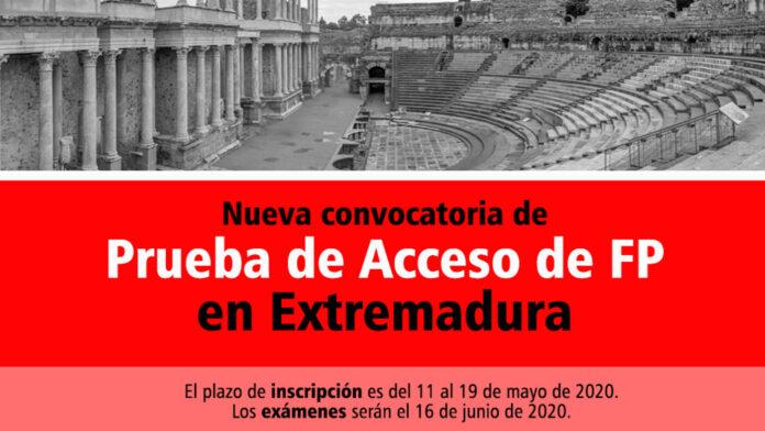 Preparación de pruebas para el acceso de FP en Extremadura en Formación Universitaria