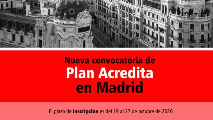 Plan acredita Madrid 2020