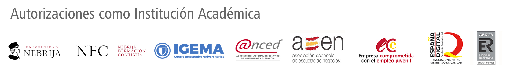 Formación Universitaria institución académica autorizada y acreditada
