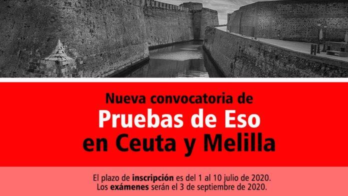 Pruebas ESO Ceuta y Melilla 2020