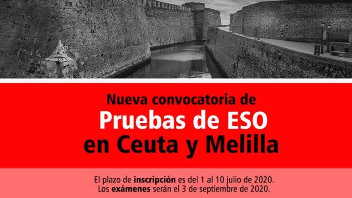 Pruebas de ESO Ceuta y Melilla