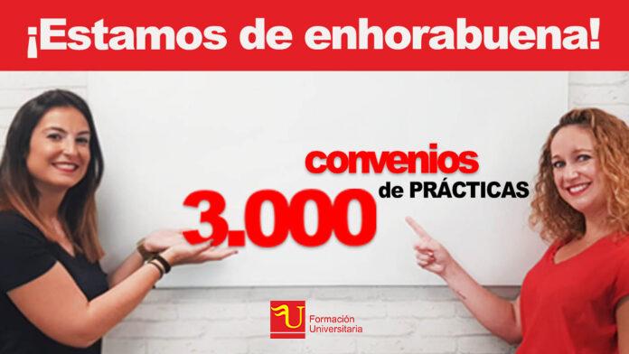 En Formación Universitaria hemos llegado a los 3.000 convenios de prácticas