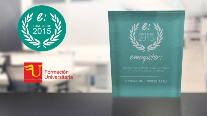 Premio cum laude 2015 Formación Universitaria de Emagister