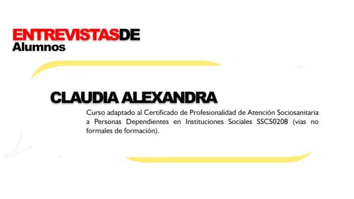 Entrevista alumnos Formación Universitaria Claudia