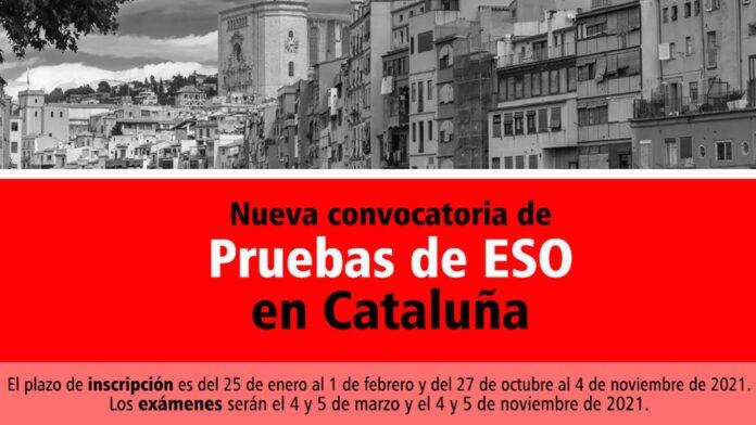 Convocatoria ESO Cataluña 2021