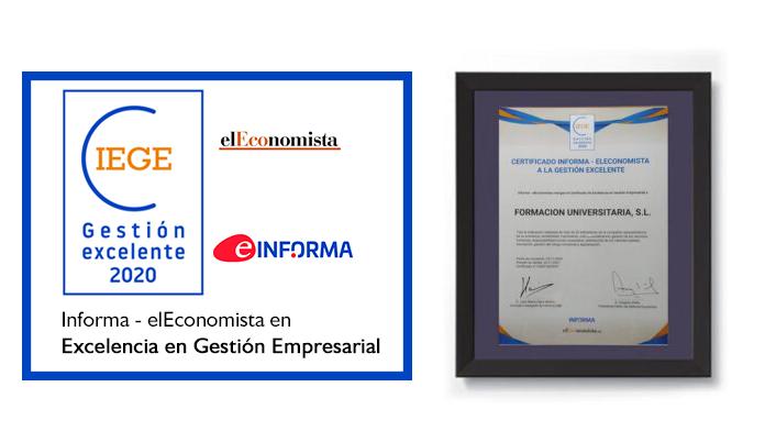 Certificado CIEGE 2020. Einforma - El Economista Formación Universitaria