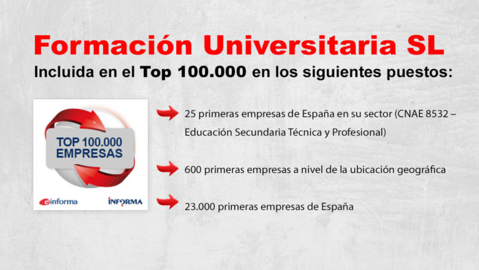 Einforma Top 100.000 empresas Formación Universitaria