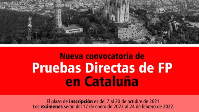 Pruebas Directas FP Cataluña 2021. Cursos Preparatorios Formación Universitaria