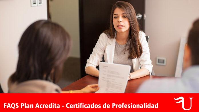 Plan Acredita - Certificados de Profesionalidad