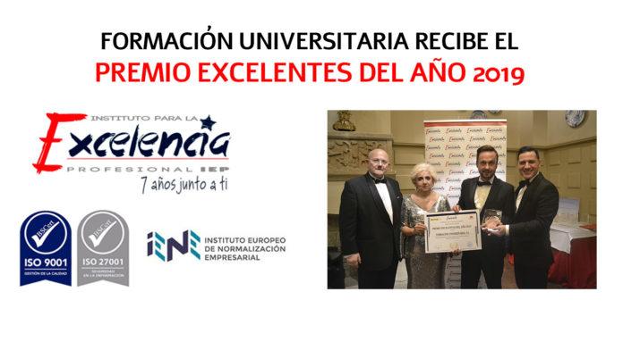 Premio Excelentes del año. Formación Universitaria