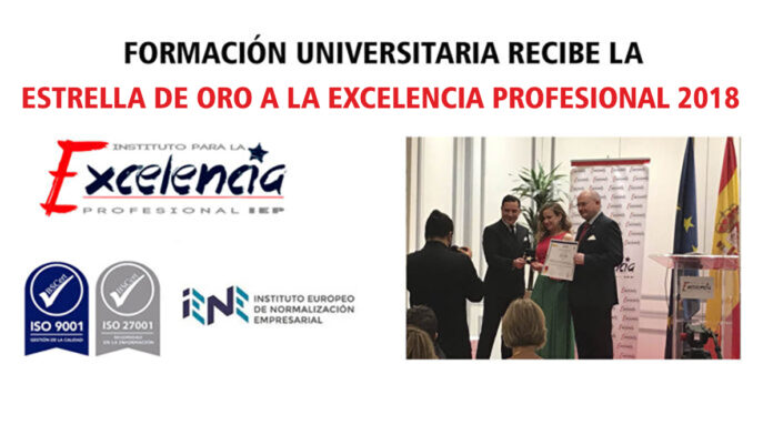 Formación Universitaria recibe la estrella de oro a la excelencia profesional 2018