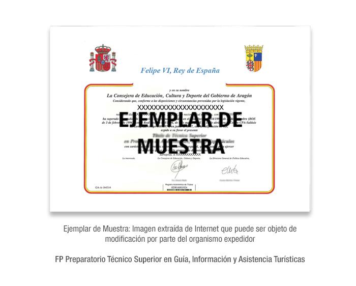 FP Preparatorio Técnico Superior en Guía, Información y Asistencia Turísticas formacion universitaria
