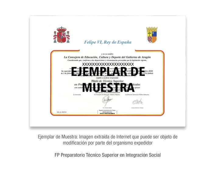 FP Preparatorio Técnico Superior en Integración Social formacion universitaria