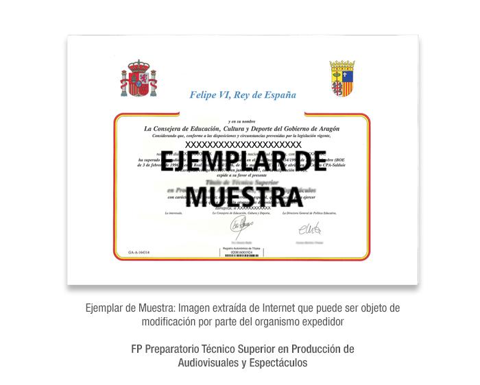 FP Preparatorio Técnico Superior en Producción de Audiovisuales y Espectáculos formacion universitaria