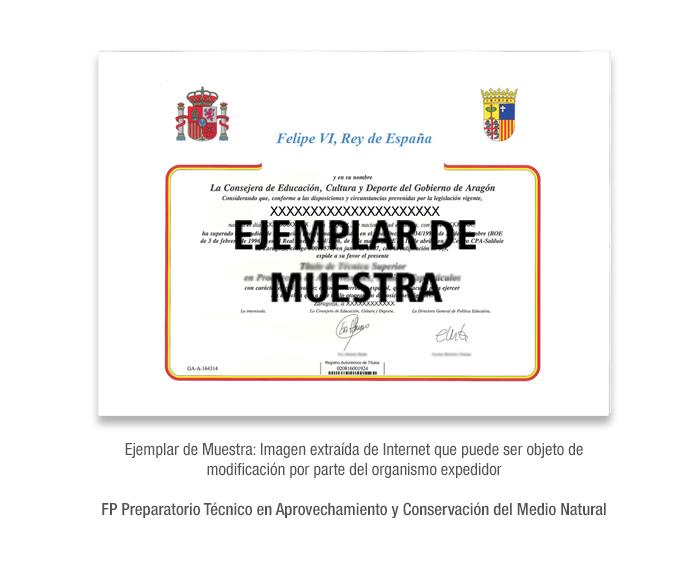 FP Preparatorio Técnico en Aprovechamiento y Conservación del Medio Natural