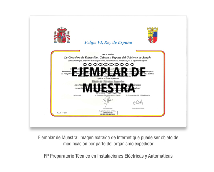 FP Preparatorio Técnico en Instalaciones Eléctricas y Automáticas formacion universitaria