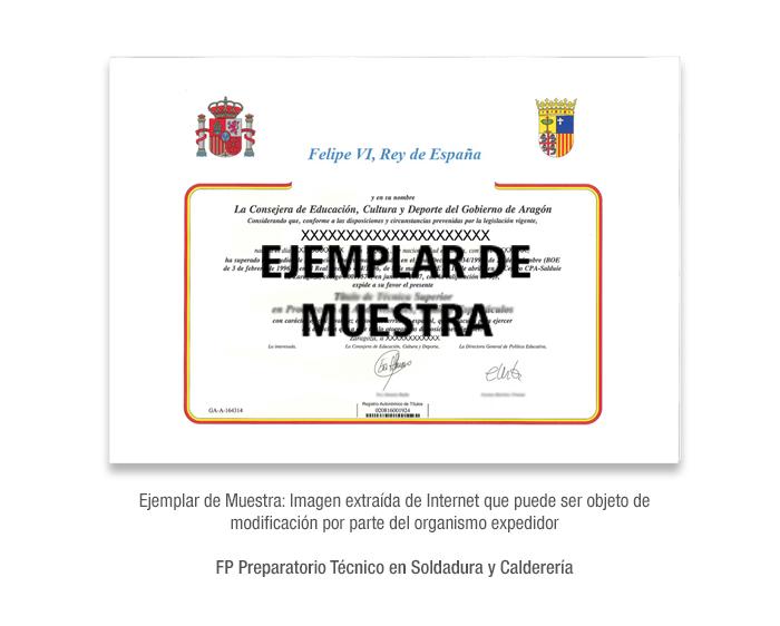 FP Preparatorio Técnico en Soldadura y Calderería formacion universitaria