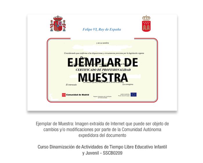 Curso Dinamización de Actividades de Tiempo Libre Educativo Infantil y Juvenil - SSCB0209