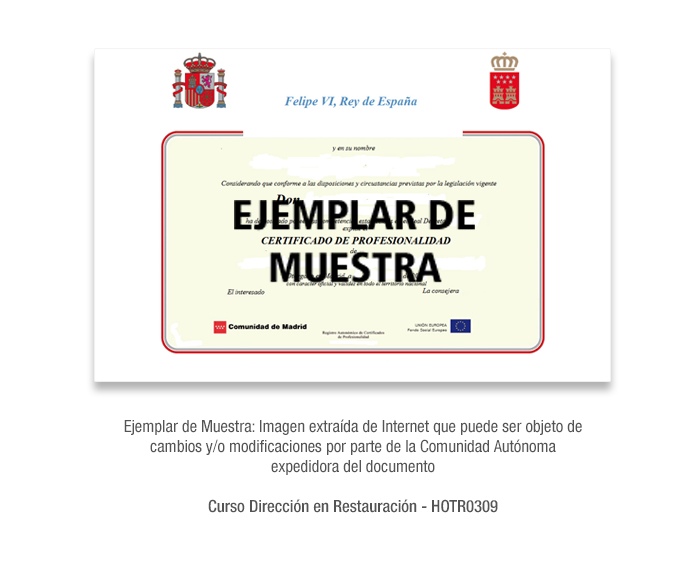 Curso Dirección en Restauración - HOTR0309 formacion universitaria