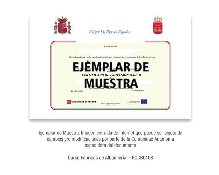 Curso Fábricas de Albañilería - EOCB0108 formacion universitaria