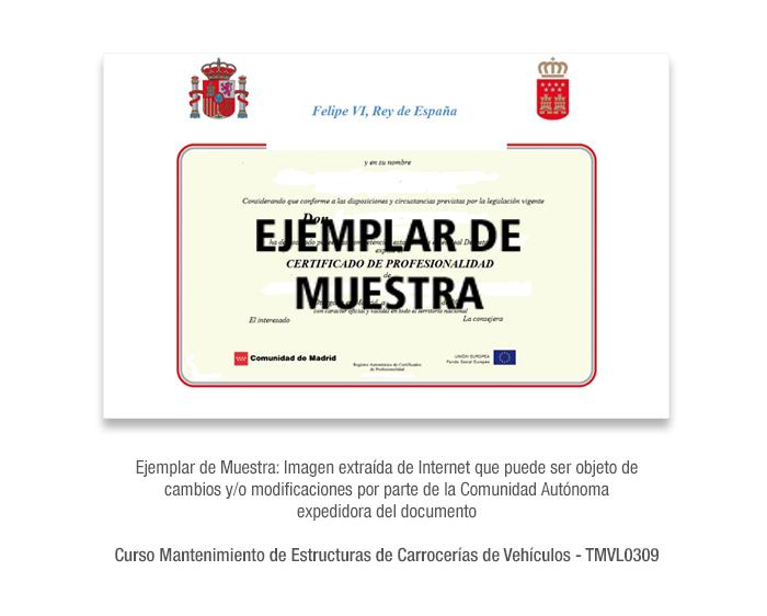 Curso Mantenimiento de Estructuras de Carrocerías de Vehículos - TMVL0309 formacion universitaria