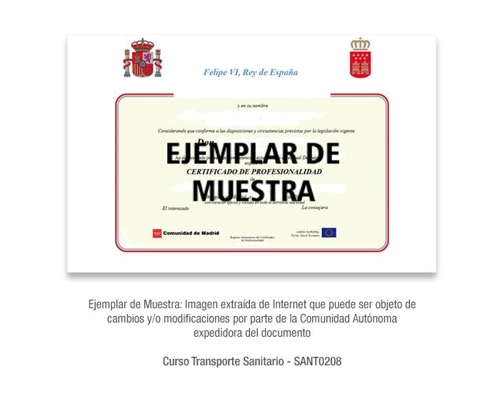 Curso Transporte Sanitario - SANT0208 formacion universitaria