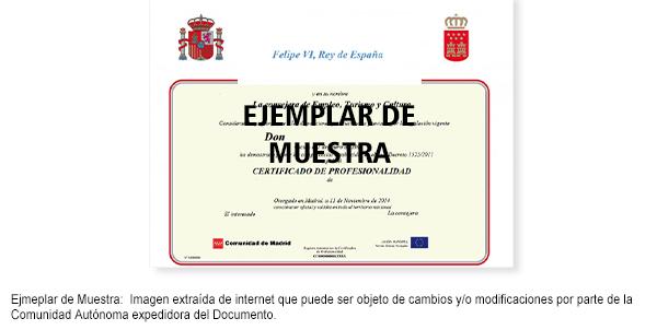 Certificado de Profesionalidad Acabado de Carpintería y Mueble MAMR0208