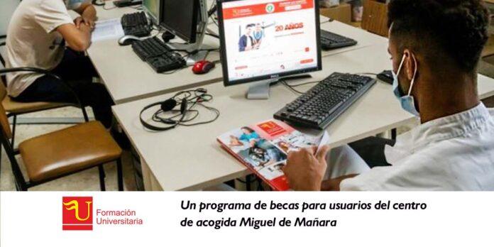 Un programa de becas para usuarios del centro de acogida Miguel de Mañara