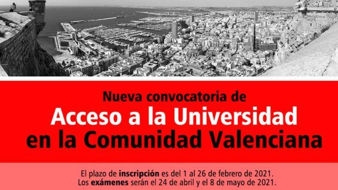 Universidad Comunidad Valenciana 2021